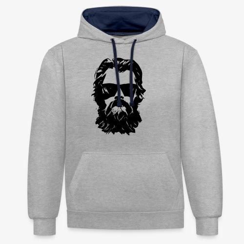 beardface - Kontrast-Hoodie