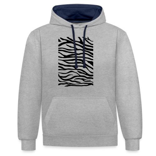 zebra v6 - Contrast hoodie
