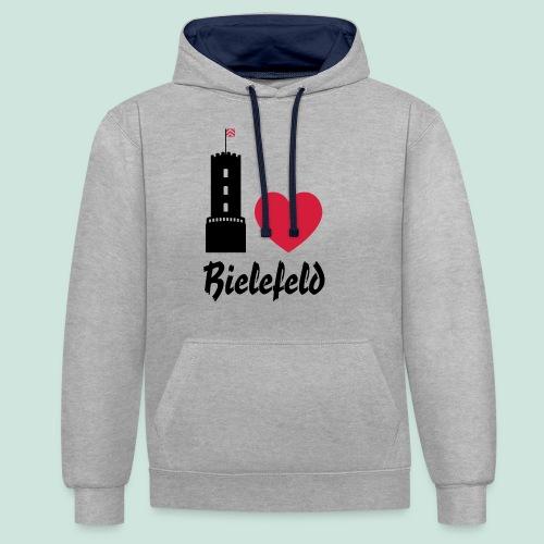 I love Bielefeld - Kontrast-Hoodie