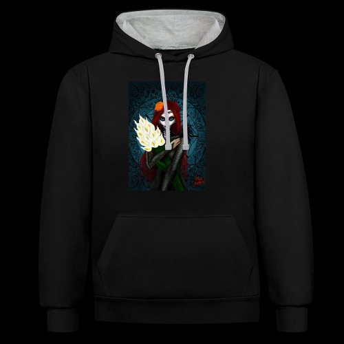 Death and lillies - Contrast Colour Hoodie