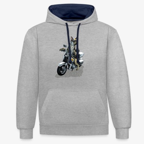 Police Dog - Contrast Colour Hoodie