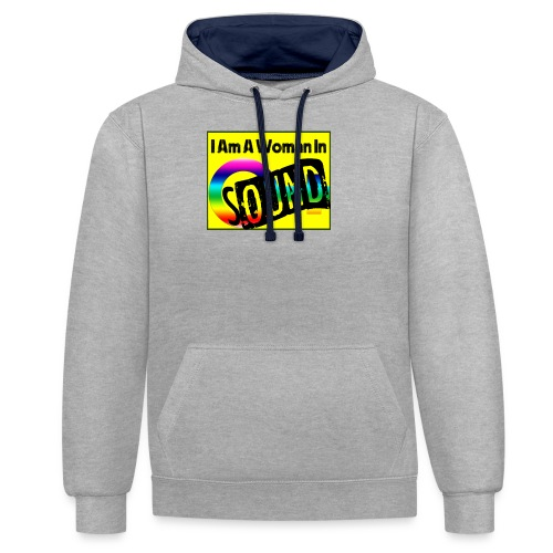 I am a woman in sound - rainbow - Contrast Colour Hoodie
