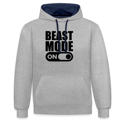 BEAST MODE ON - Contrast Colour Hoodie