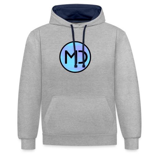 MD Blue Fibre Trans - Contrast Colour Hoodie