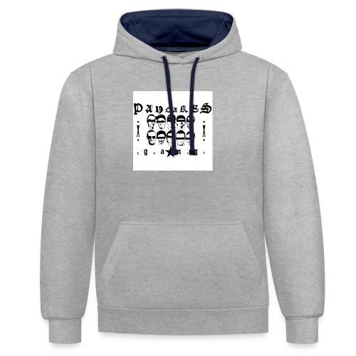 PANCAKESGANG - Bluza z kapturem z kontrastowymi elementami