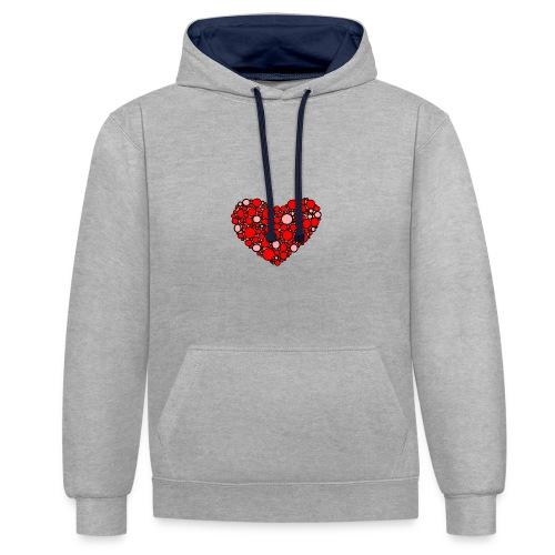 Hjertebarn - Kontrast-hættetrøje