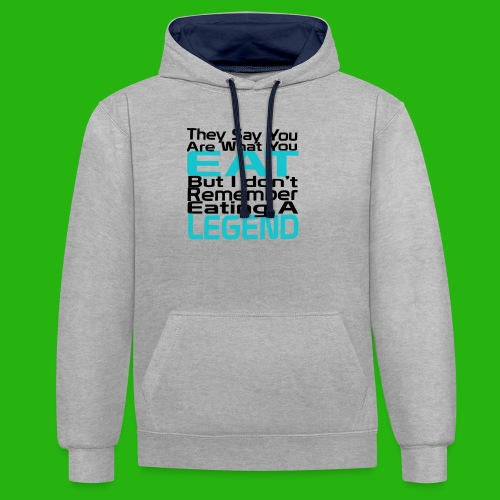 You Are What You Eat Shirt - Contrast Colour Hoodie