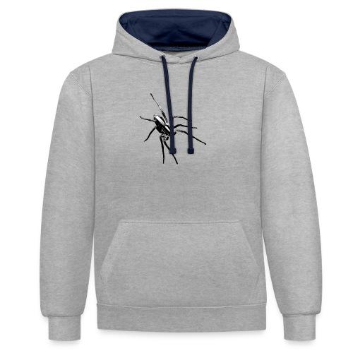 spider - Kontrast-Hoodie
