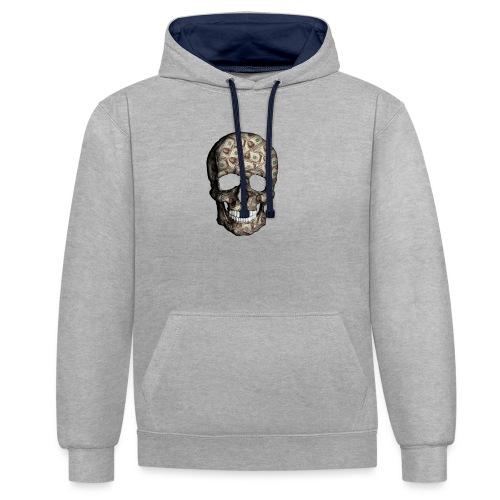 Skull Money Black - Sudadera con capucha en contraste