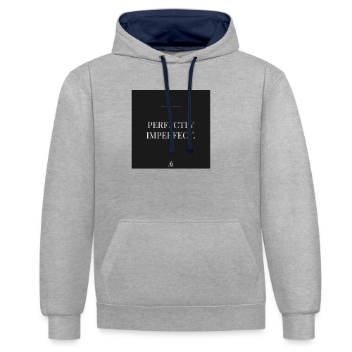Perfectly Imperfect Print - Kontrast-Hoodie