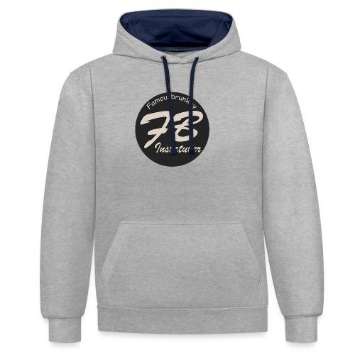 TSHIRT-YOUTUBER-EXTRA - Contrast hoodie