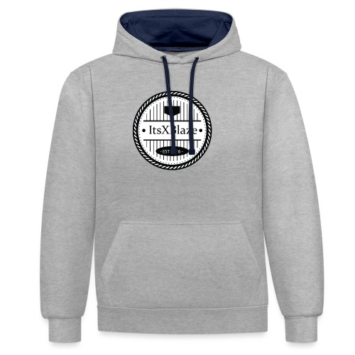 ItsXBlaze Logo 3 White V-Neck Option 1 - Contrast hoodie