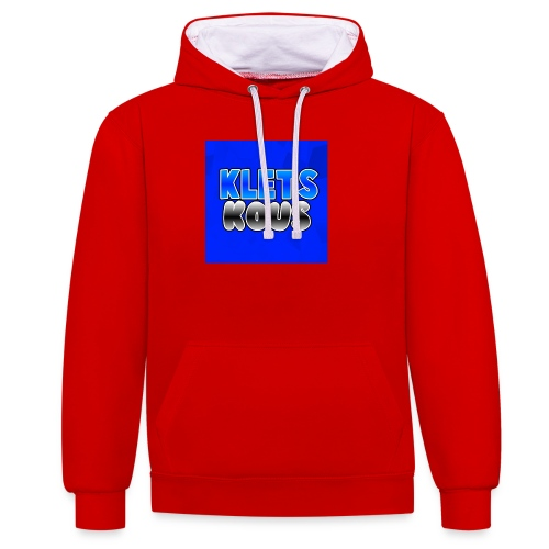 Kletskous Muismat - Contrast hoodie