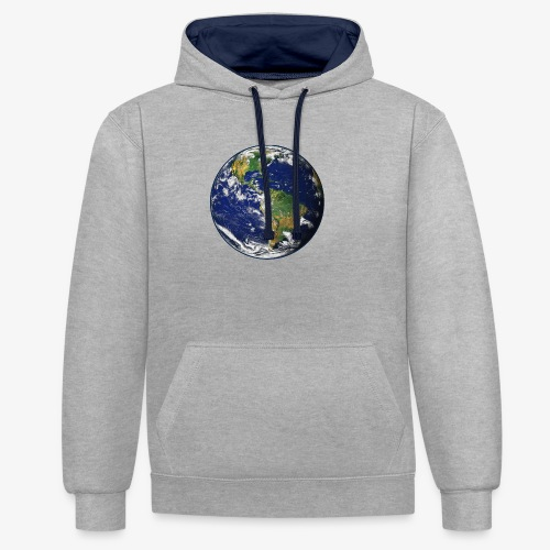 Earth png - Contrast Colour Hoodie