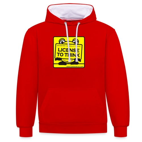 Licence to Think - Contrast Colour Hoodie