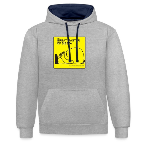Great Master of Siesta - Contrast Colour Hoodie