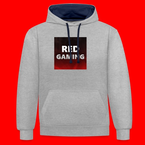 RED DESIGN - Contrast Colour Hoodie