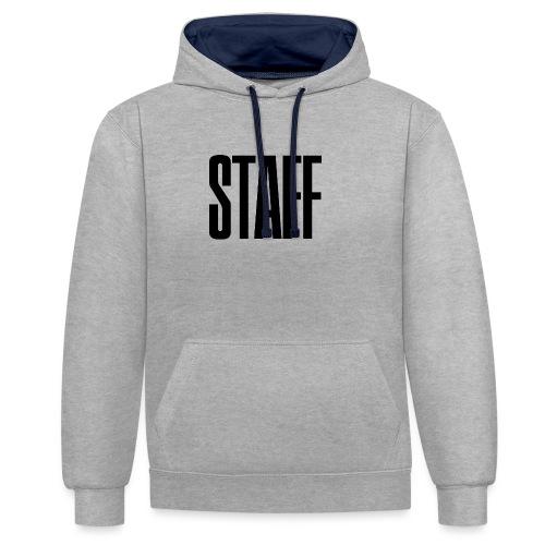 Staff. - Kontrast-Hoodie