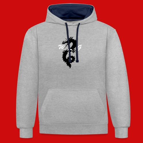 WoodDragonGaming Logo - Contrast Colour Hoodie