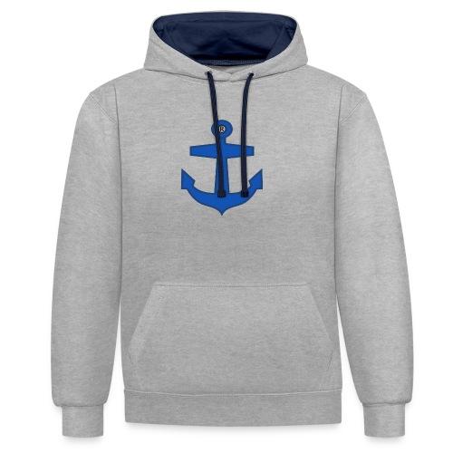BLUE ANCHOR CLOTHES - Contrast Colour Hoodie