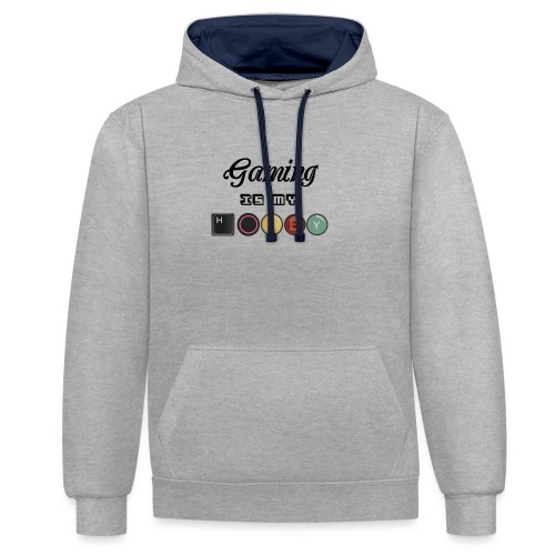 Gaming is my hobby - Sudadera con capucha en contraste