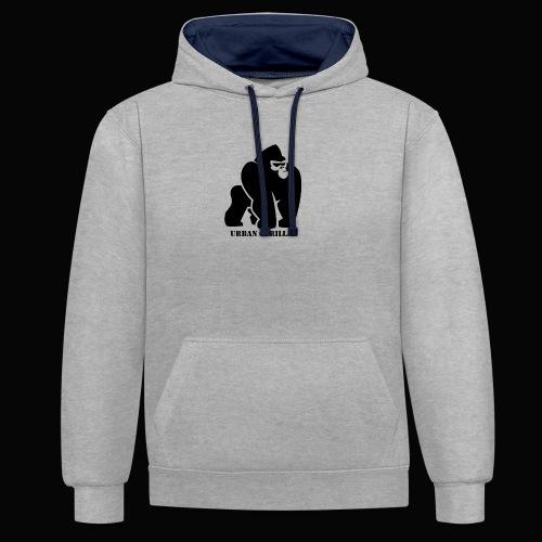 Gorilla - Sudadera con capucha en contraste