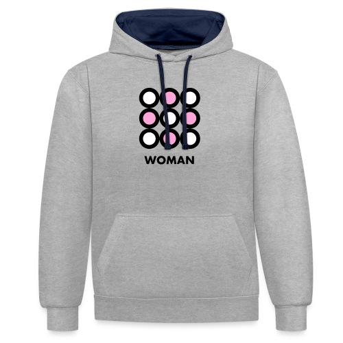 Woman - Felpa con cappuccio bicromatica