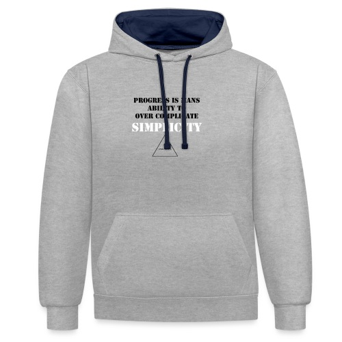 over complecate - Contrast Colour Hoodie