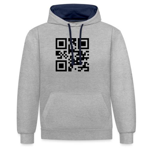 Sono Single QR Code - Felpa con cappuccio bicromatica