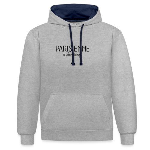 Parisienne à plein temps - Sweat-shirt contraste