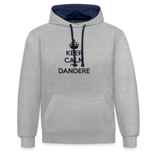 Dandere keep calm - Contrast Colour Hoodie