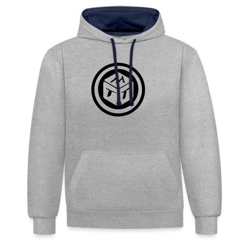 mb logo klein - Kontrast-Hoodie