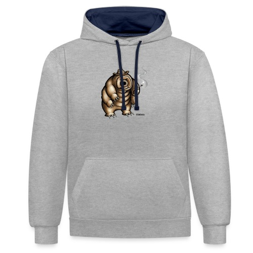 Smokey the Water Bear - Contrast Colour Hoodie