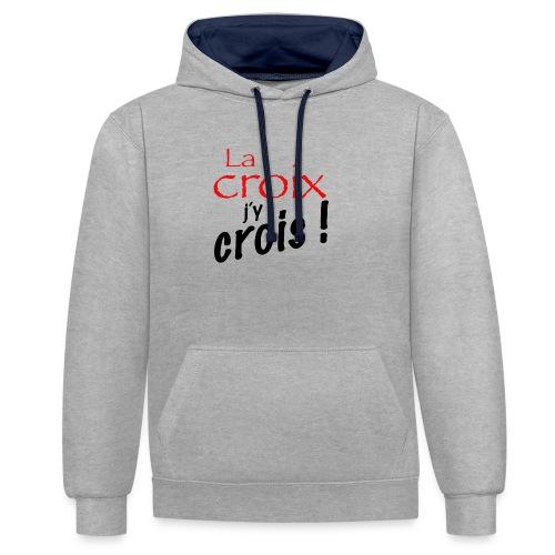 la croix jy crois - Sweat-shirt contraste