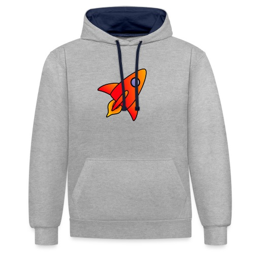 Red Rocket - Contrast Colour Hoodie