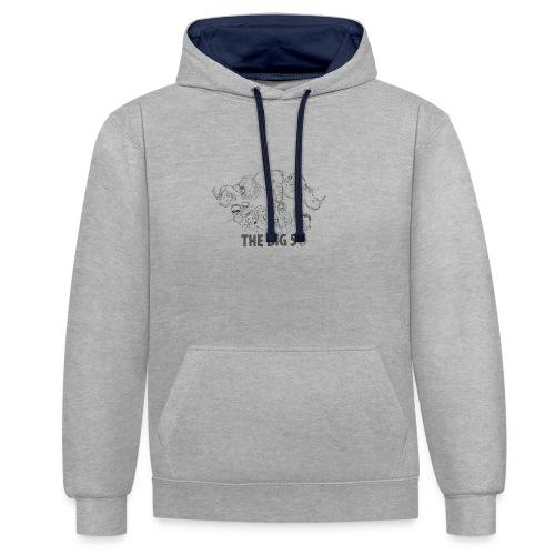 big 5v2 - Contrast hoodie
