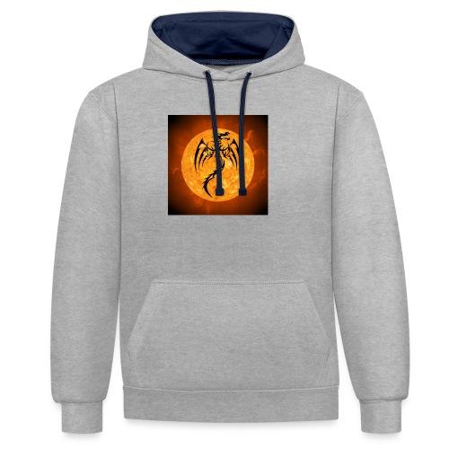 Dagron Sol y Fuego - Sudadera con capucha en contraste