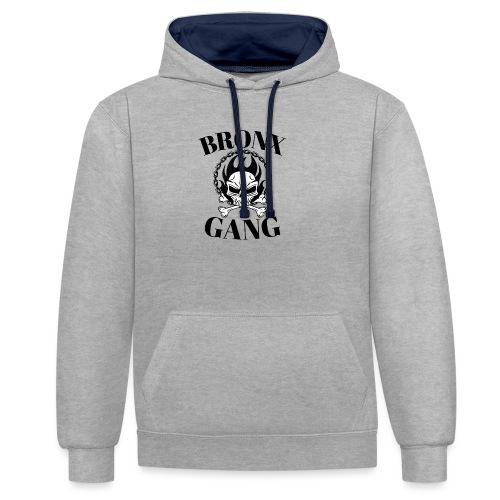 bronx gang skull flamme - Sweat-shirt contraste