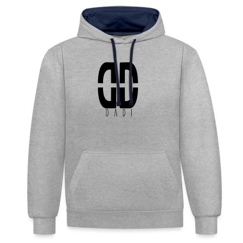 dadi logo png - Kontrast-Hoodie
