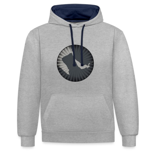 retro Wirral - Contrast Colour Hoodie
