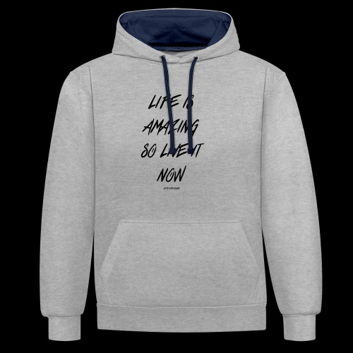 Life is amazing Samsung Case - Contrast Colour Hoodie