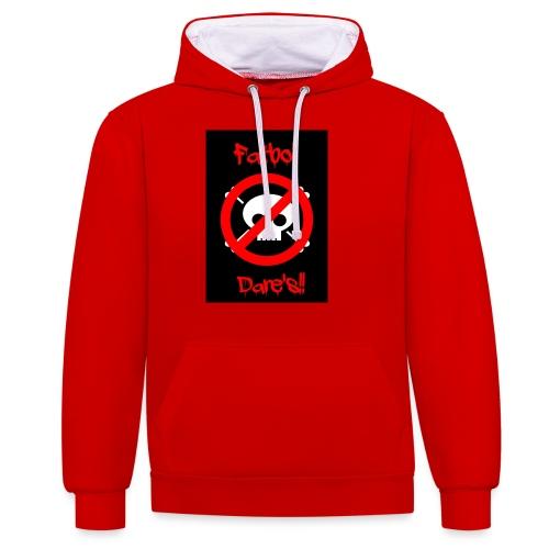 Fatboi Dares's logo - Contrast Colour Hoodie