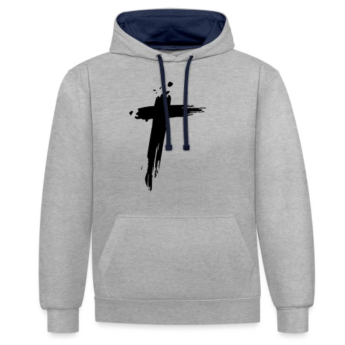 Cross - Contrast hoodie