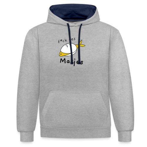 Ostfriesland Fun Shirt - F*ck Yes Matjes - Kontrast-Hoodie