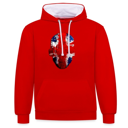 Borg recordings uk Union flag MetaSkull T Shirt - Contrast Colour Hoodie
