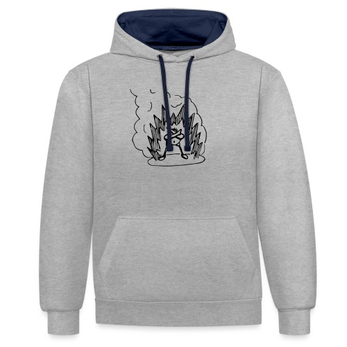 Whos A Chicken? - Contrast Colour Hoodie