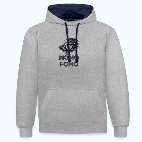 NOMO FOMO - Contrast Colour Hoodie