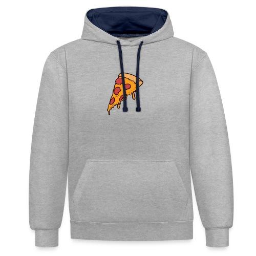 Pizza - Sudadera con capucha en contraste