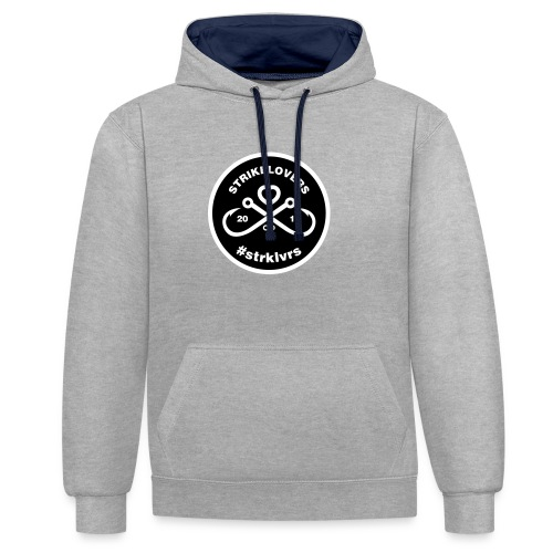 StrikeLovers Circle Vector - Kontrast-Hoodie