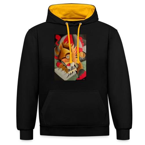 leone - Felpa con cappuccio bicromatica